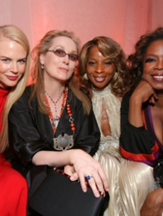Nicole Kidman, Meryl, Mary J. and Oprah at the Vanity Fair party