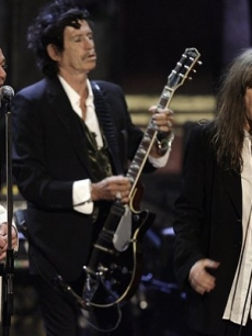 Michael Stipe, Keith Richards, Patti Smith Rock Hall of Fame March 13, 07 AP