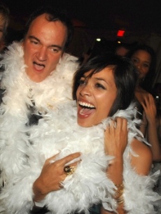 Quentin and Rosario ham it up at the &#8220;Grindhouse&#8221; after party on March 26, 2007