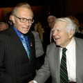 Actor Andy Rooney congratulates the legendary broadcaster