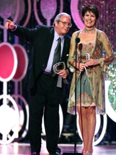 Desi & Lucie Arnaz accept an award on behalf of their mother, Lucille Ball