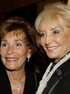 Judge Judy and Barbara Walters catch up at King's party in NY