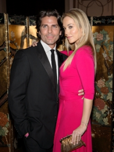 Elizabeth Berkley & Greg Lauren at the Breast Cancer Hot Pink Party
