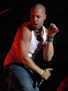 Chris Daughtry performs during SunFest in Florida on Friday