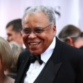 James Earl Jones smiles for the press