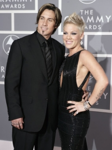 Pink and biker beau Carey Hart