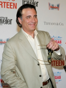 Andy Garcia looks thrilled to be in Vegas for the premiere