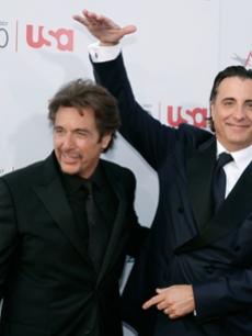 Andy Garcia has a good time with Al Pacino at his honorary event