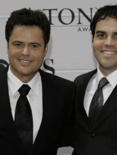 Donny Osmond brings son Donny Jr. to the legendary event