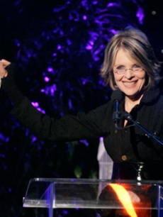 Diane Keaton at the Crystal Lucy Awards