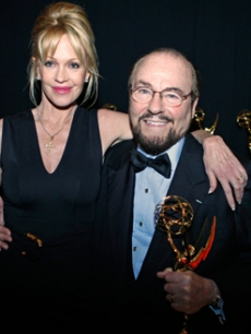 James Lipton and Melanie Griffith hang at the Creative Emmys
