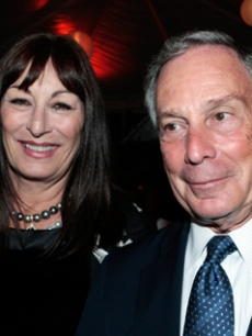 Anjelica Huston & Michael Bloomberg at a USC conference event in LA