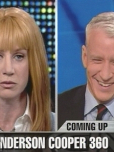 Kathy Griffin embarassed Anderson Cooper during Larry King's show