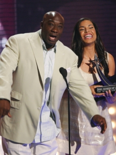 Jordin Sparks and Michael Clarke Duncan take to the stage