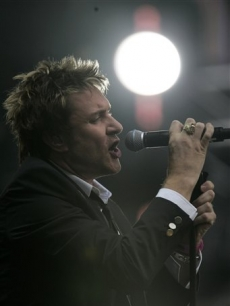 Simon Le Bon of one of Diana's favorite groups Duran Duran, performs