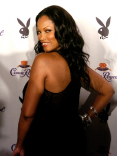 Playboy's August covergirl, Garcelle Beauvais-Nilon, at the mag's event