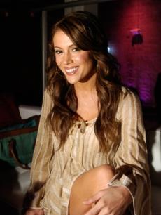 Alyssa Milano smiles at a Playboy party in San Francisco