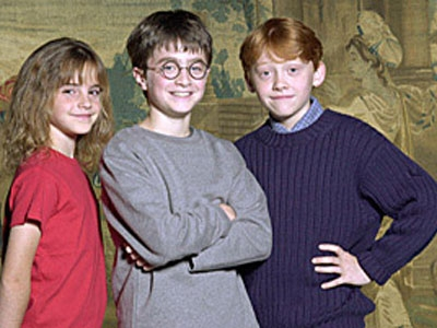 Daniel Radcliffe, Rupert Grint, Emma Watson when we first met them