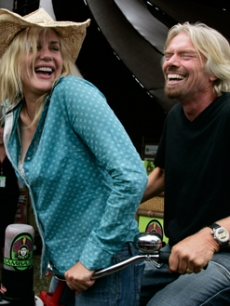 Daryl Hannah & Richard Branson at the Virgin Music Festival