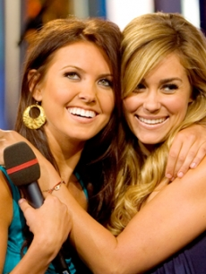 Audrina Patridge and Lauren Conrad on MTV, August 6, 2007