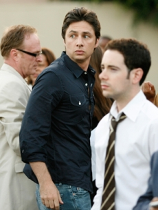 Zach Braff at Barack Obama's fundraiser in West Hollywood
