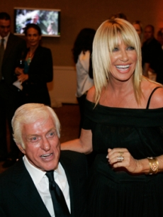 Dick Van Dyke & Suzanne Somers at the Griffin reception