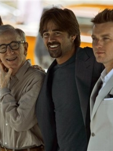 Hayley Atwell, Woody Allen, Colin Farrell and Ewan McGregor in Venice