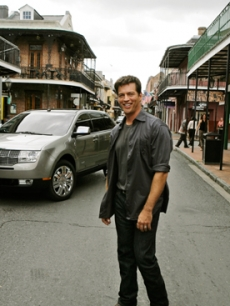 Harry Connick Jr. in New Orleans to promote the musicians village
