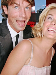 Jerry O'Connell Rebecca Romijn EMMY RED CARPET