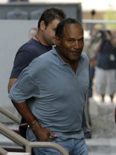 O.J. Simpson is sent to Clark County Det. Center in Las Vegas