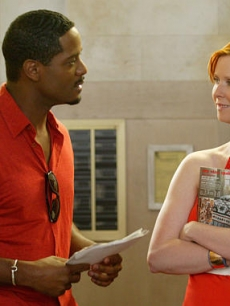 Miranda meets the hot neighbor played by Blair Underwood