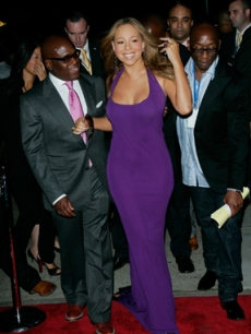 Mariah Carey arrives for VH1's Save the Music benefit in NY