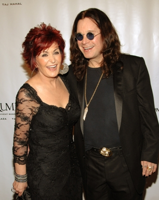 Sharon Osbourne and Ozzy Osbourne arrive at Elton's NY bash