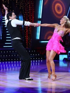 Mark Cuban and Kym Johnson dance the jive