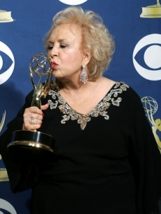 Doris Roberts joins in the excitement