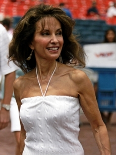 Susan Lucci at Shea Stadium in NYC