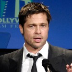 Brad Pitt takes the stage at the Hollywood Film Fest Awards