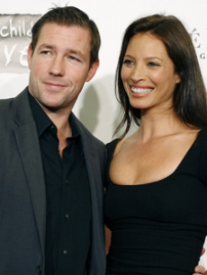 Ed Burns, Christy Turlington, AP