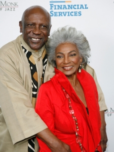 Louis Gossett, Jr. & Nichelle Nichols at the Herbie Hancock event, LA