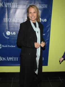Katie Couric at the screening at the Bon Appetit Supper Club