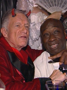 Hef with Michael Clarke Duncan