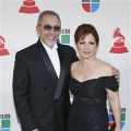 Emilio and Gloria Estefan arrive at the Las Vegas show