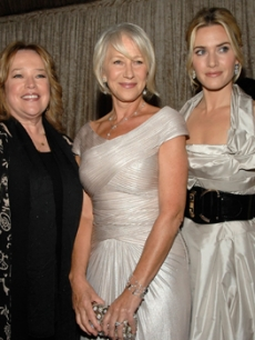 Kate with Kathy Bates & Helen Mirren at an LA BAFTA event, Nov. '07
