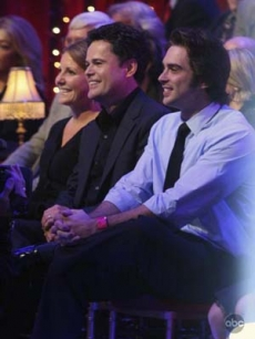 Donny Osmond in the audience to cheer on Marie