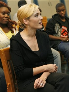 Kate Winslet watches drama students perform Shakespeare in NY