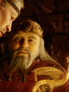 Beowulf & King Hrothgar (voiced by Anthony Hopkins)