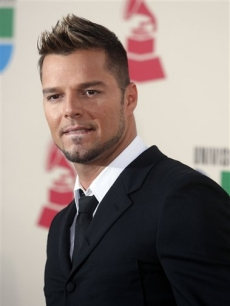 Nominee Ricky Martin turns up at the event