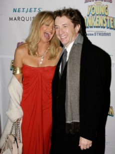 Goldie Hawn & Martin Short catch up at the musical