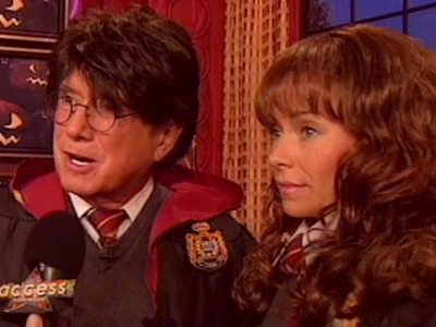 Regis and Kelly as Harry and Hermione
