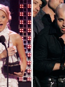chris daughtry carrie underwood 2007 AMAs blurb AP